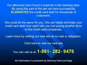 This process for eradication of business card balance